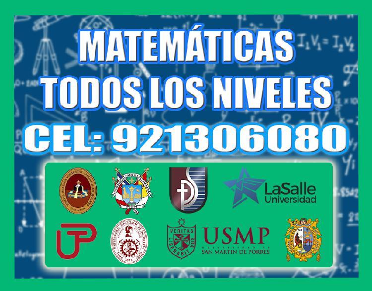 Clases particulares de matematica, razonamiento y fisica