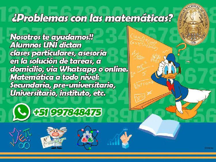 Clases de matemáticas, matemática financiera,