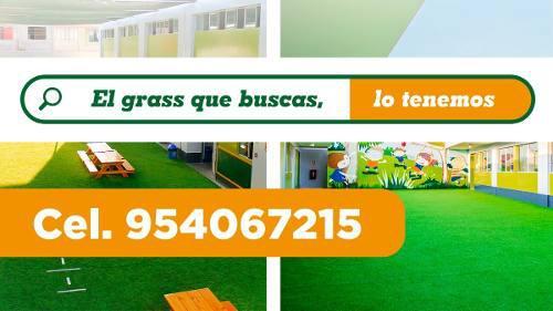 Grass sintético decorativo para terrazas, colegios,