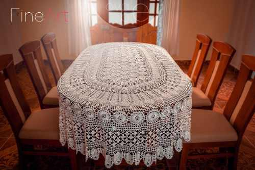 Mantel hecho a crochet ovale blé 10 distribuido por fineart