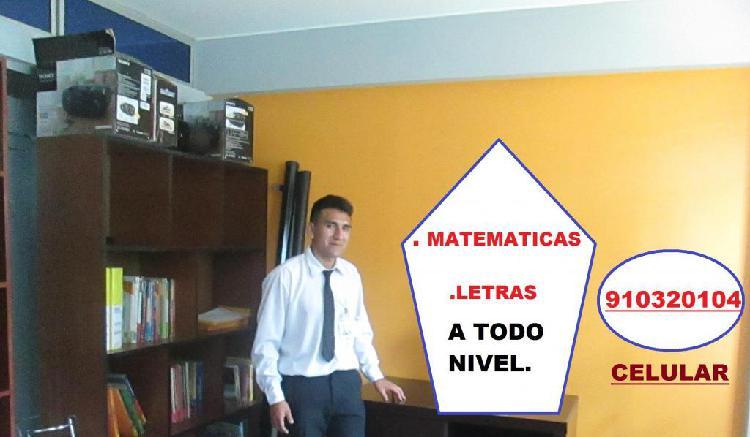 Profesor de matemáticas a domicilio.