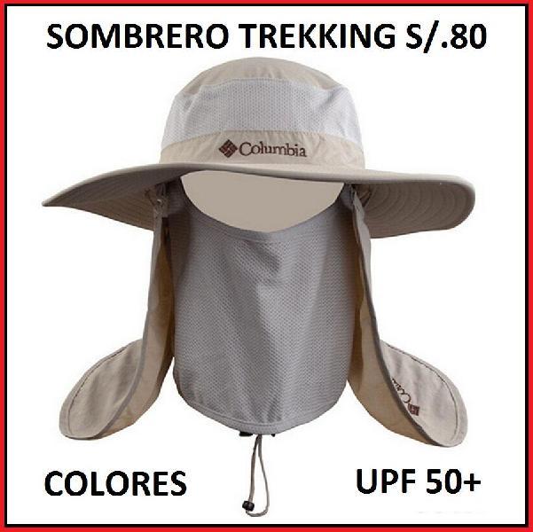 ebb5f04aab43b Sombrero pesca trekking protege cuello y rostro pescar y
