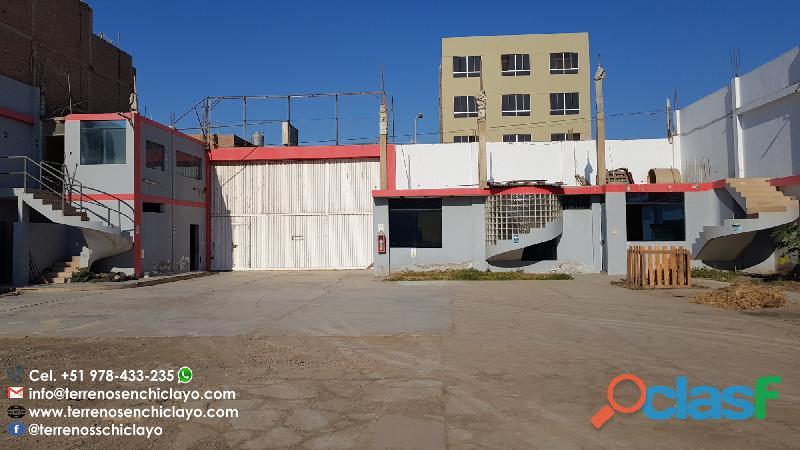 Excelente local, 1312m² en la urb. patazca (zona céntrica de chiclayo)