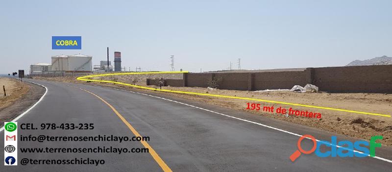 Terreno industrial de 21.87 has en filo de pista reque chiclayo