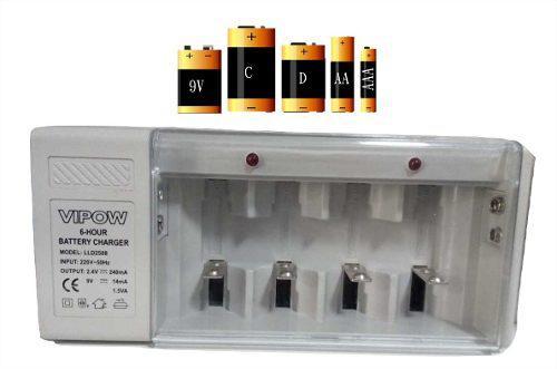 Cargador de pilas y baterias universal aa/aaa/9v/c/ d lince