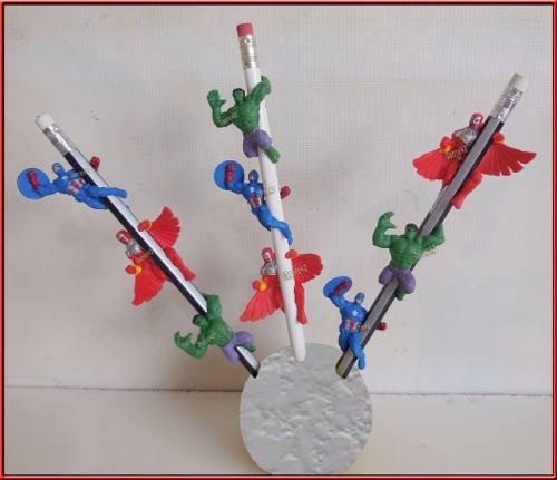 Dante42 - 9 muñecos marvel q se sujetan en lapiz