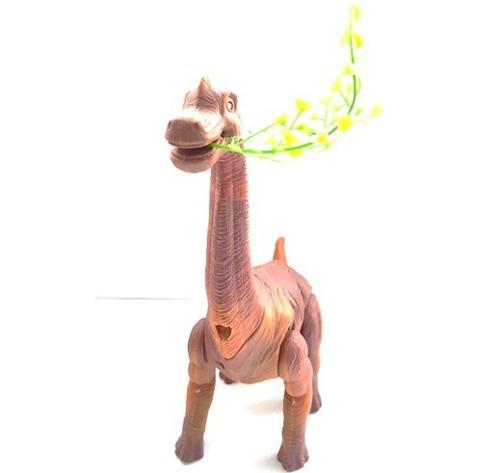 Dinosaurios cuello largo camina, luces, sonido