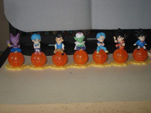 Dragon ball set 7 esferas + figuras picoro bills trunks goku