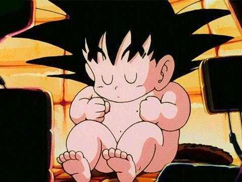 Dragon ball z goku bebe con cola sayayin durmiendo kakaroto