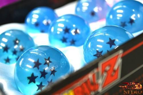 Esferas del dragón 7 piezas 4.5 cm bandai azul dragon ball