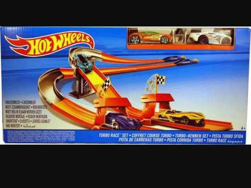 Hotwheels hot wheels circuito de carreras turbo.