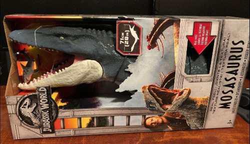 Jurassic world dinosaurio mosasaurus 71 cm mattel 100% 2