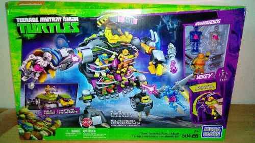 Tortugas ninja mega bloks original tortuga mecanica transfor
