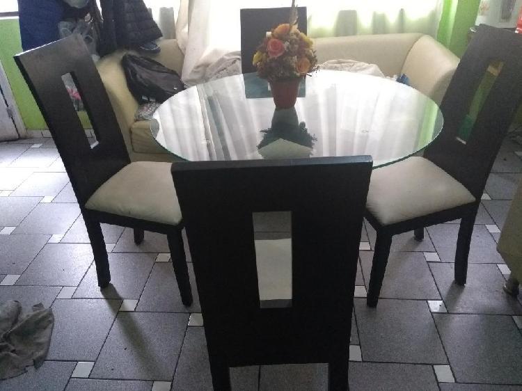 Juego de mesa 4 sillas madera cedro y vi