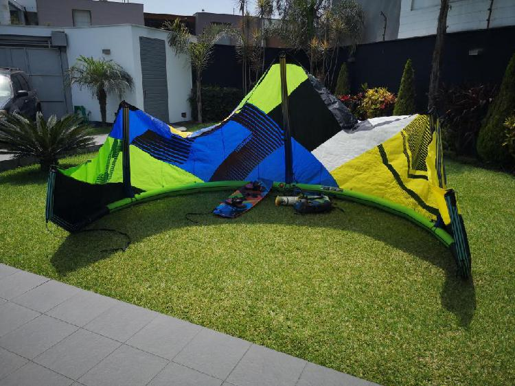 Kitesurf cometa, mochila, tabla, harness, etc