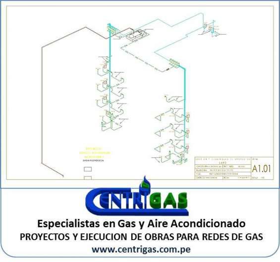 Proyectos y ejecución de redes de gas en lima