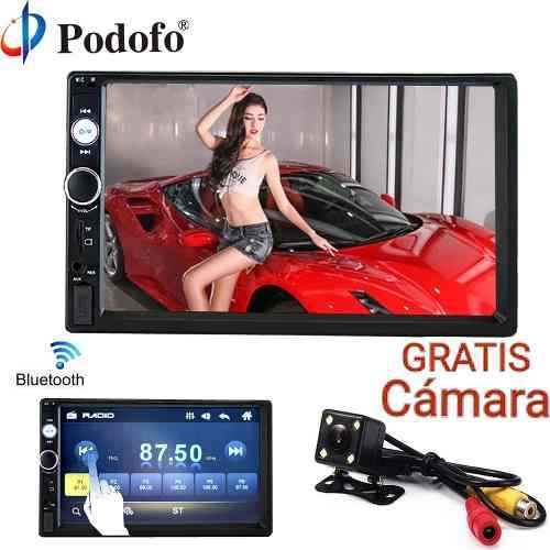 Auto radio hd reproductor mp5 pantalla táctil bluetooth