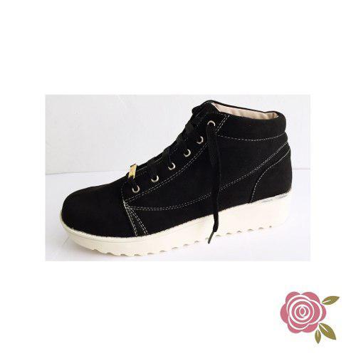 Zapatos tipo botín para mujer (talla 35) black cs.1e31