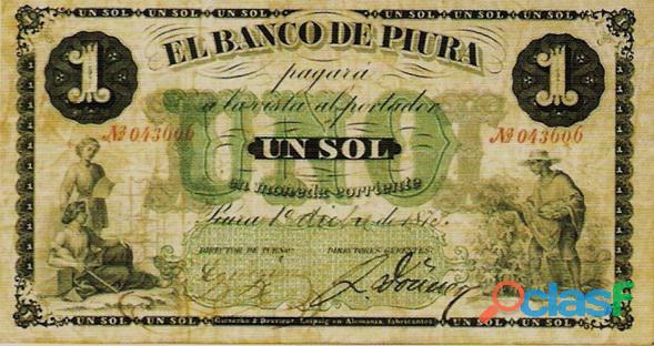 Compro billetes antiguos del peru