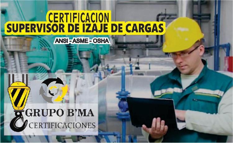 Certificacion de supervisor de izaje de cargas todo el sur