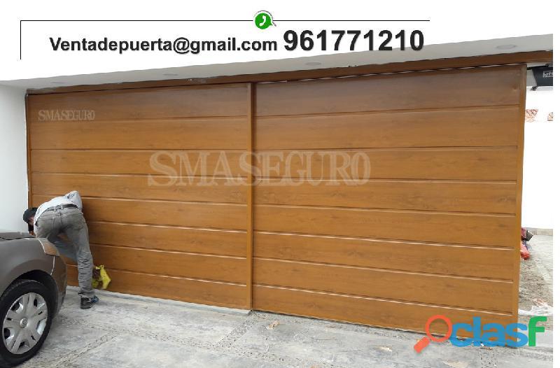 Instalacion de puerta corredizo en panel importado automatizado