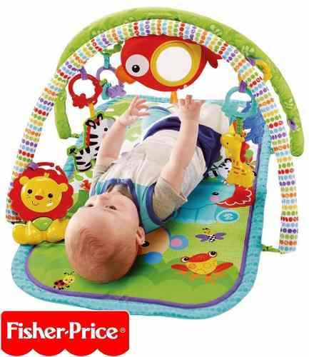Gimnasio manta alfombra didactica musical bebe fisher price