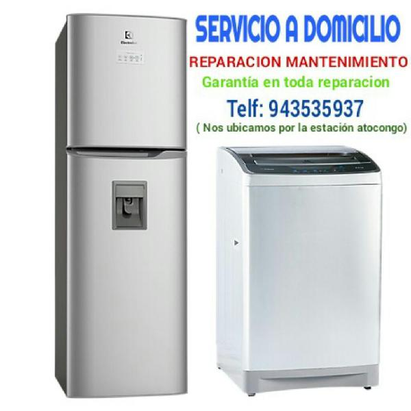 Reparacion lavadoras refrigeradoras
