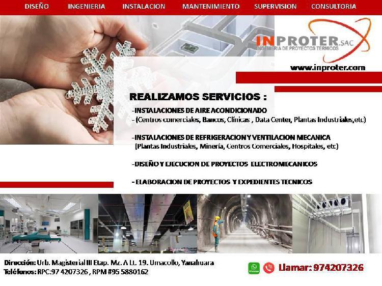 Aire acondicionado, refrigeracion y ventilacion