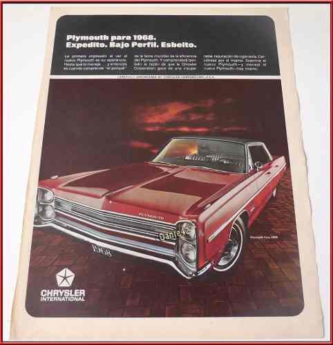 Dante42 publicidad antigua retro auto chrysler fury 1968