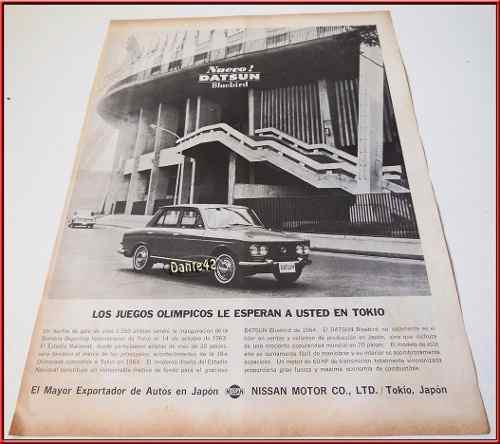Dante42 publicidad antigua retro auto datsun 1964