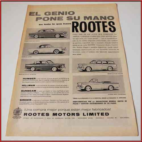 Dante42 publicidad antigua retro auto humber hillman 1960