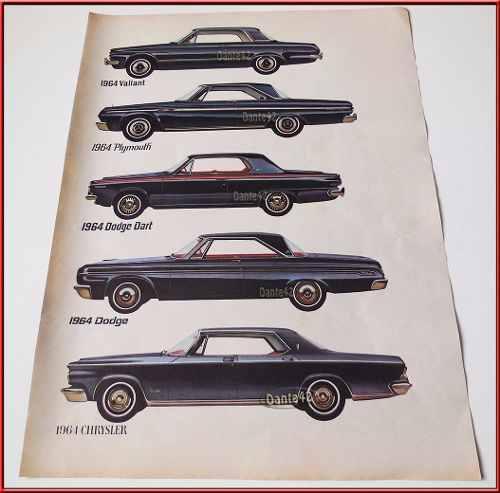 Dante42 publicidad antigua retro auto plymouth valint 1964