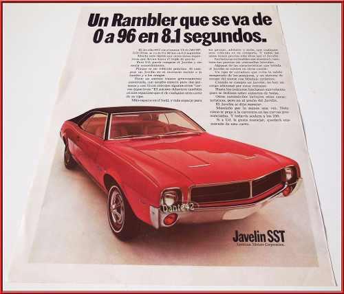 Dante42 publicidad antigua retro auto rambler javelin 1967