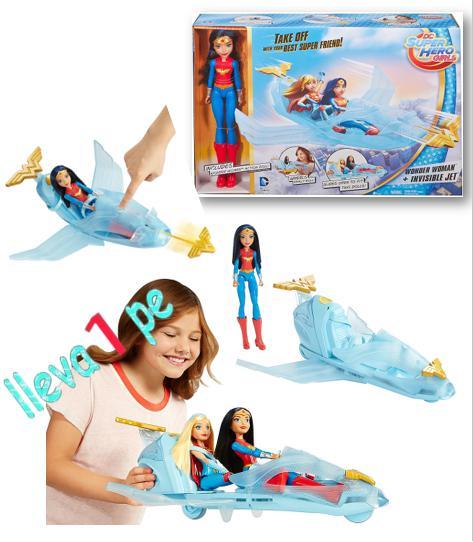 Dc Mujer Maravilla Wonder Woman Nave Invisible Avión Jet