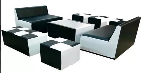 Muebles puffs modulares lounge juego de sala sillas mesas