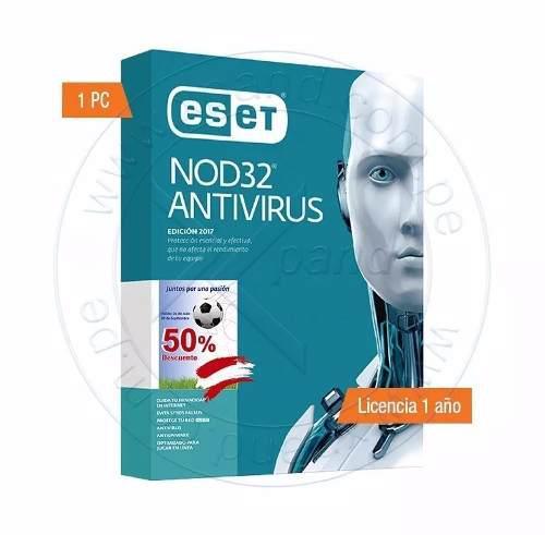 Nod32 antivirus licencia 1 año nuevo en caja - 1pc
