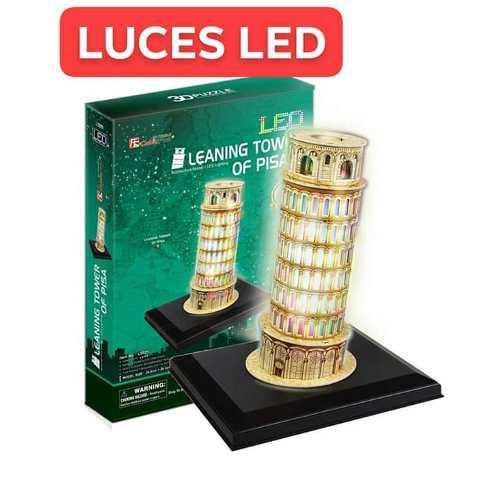 PUZZLE 3D. TORRE DE PISA CON LUCES LED. segunda mano  Arequipa (Arequipa)