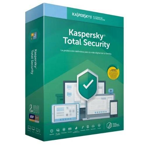 Software kaspersky total security 2019, 5 pc, 1 año