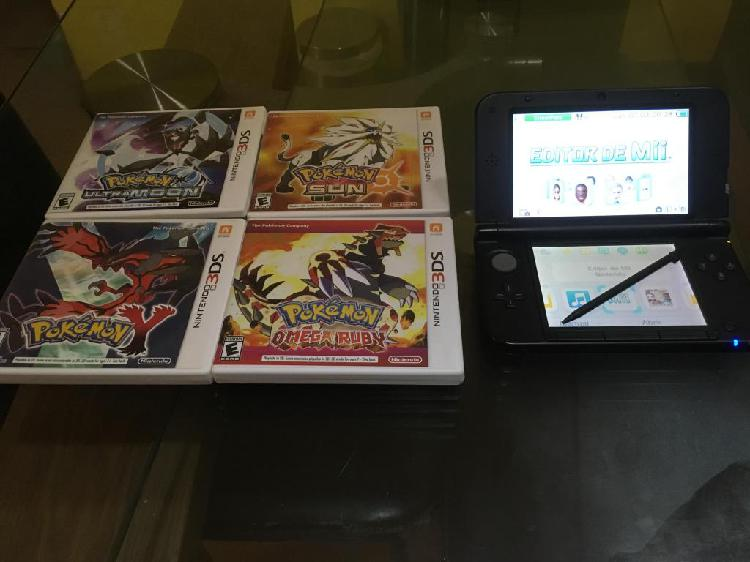 Nintendo 3ds Xl rojo 4 juegos