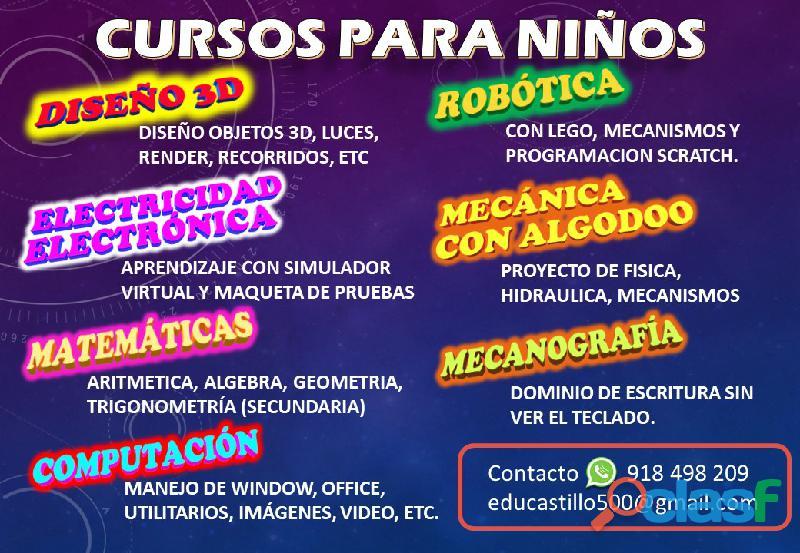 CLASES PARA NIÑOS   TECNOLOGÍA