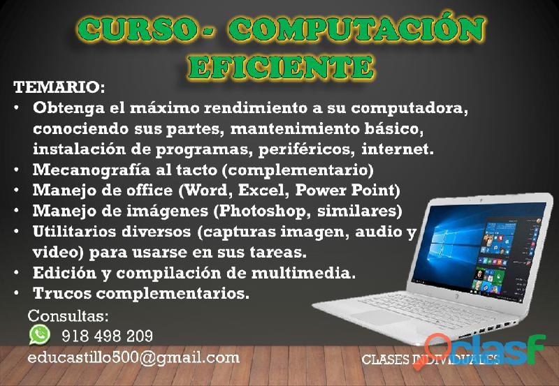 CURSO   COMPUTACIÓN EFICIENTE