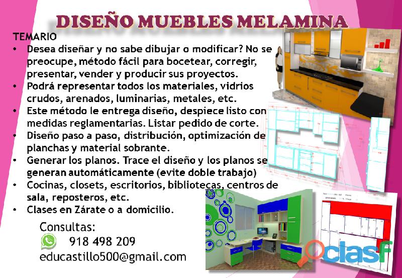 Curso diseño muebles melamina