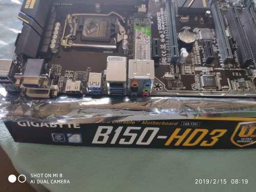 PLACA MADRE GIGABYTE B150-HD3 COMBO SSD 240 GB WD 4 GB RAM, usado segunda mano  Lima (Lima)