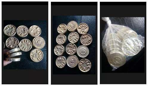 Monedas fichas para sapito sapo pelotitas fulbito