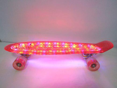 Skate modelo penny con luces led.