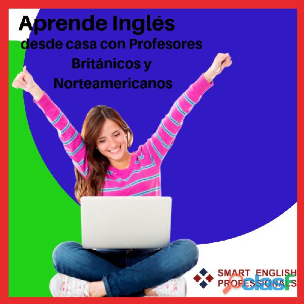Clases de inglés online con profesores británicos y norteamericanos.
