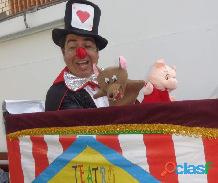 Mago fiestas infantiles, show infantil con magia y titeres