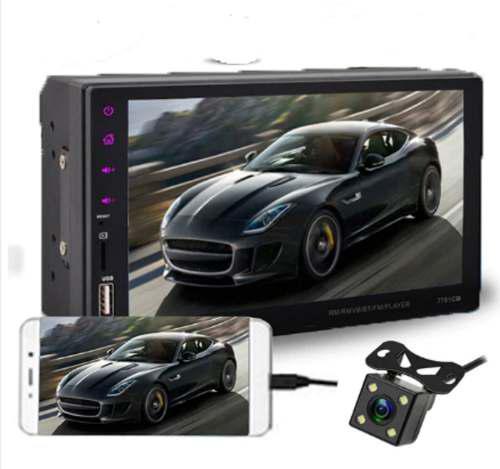 Auto radio tactil mirror link bluetooth/fm/tf/usb camera