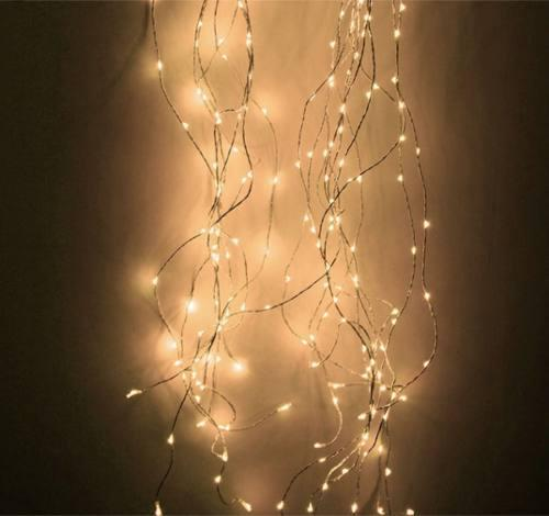 Luces led cortinas de hilo de 3 x 3 calido y blanco eventos