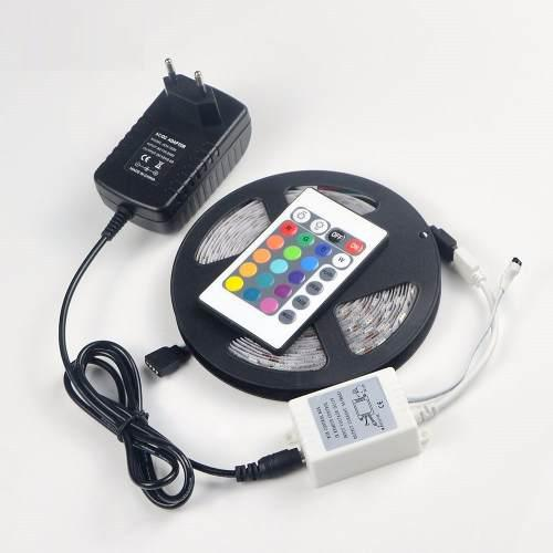 Luces led rgb 5050 5 metros 300 led -- kit completo